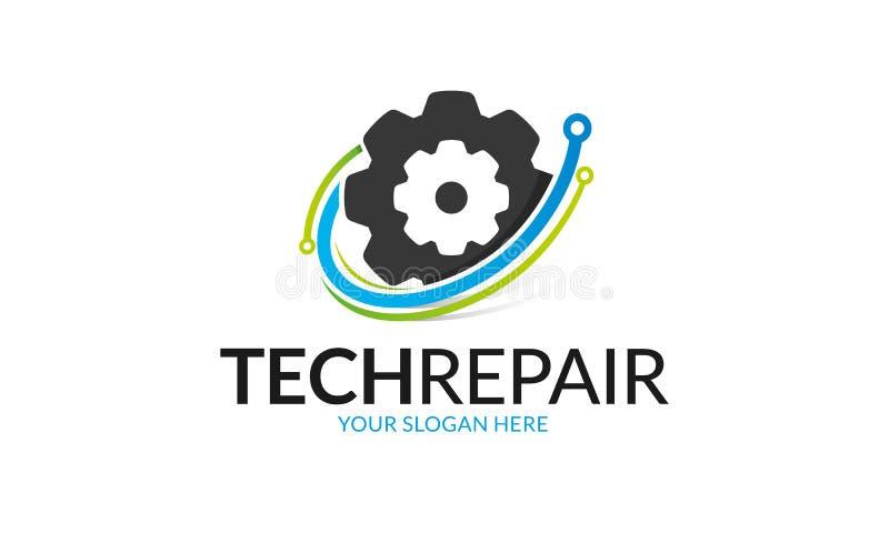 Technologie-Reparatie Logo Template royalty-vrije illustratie