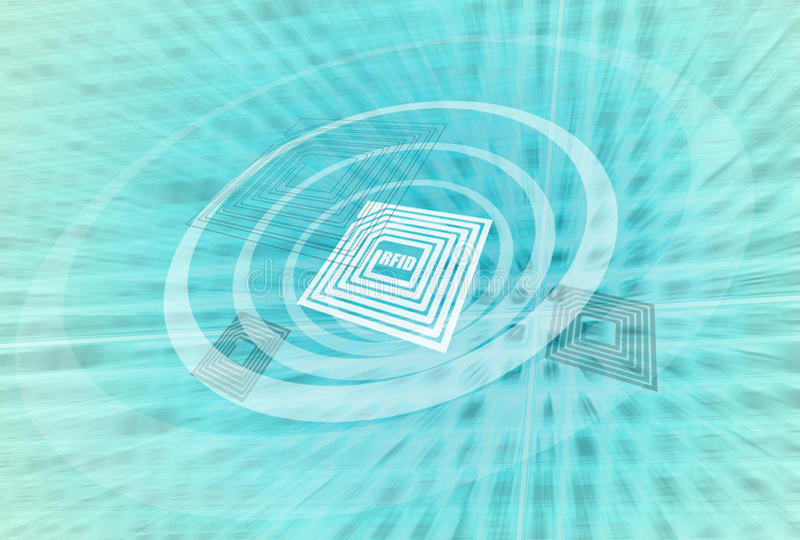 Technologie RFID royalty-vrije illustratie