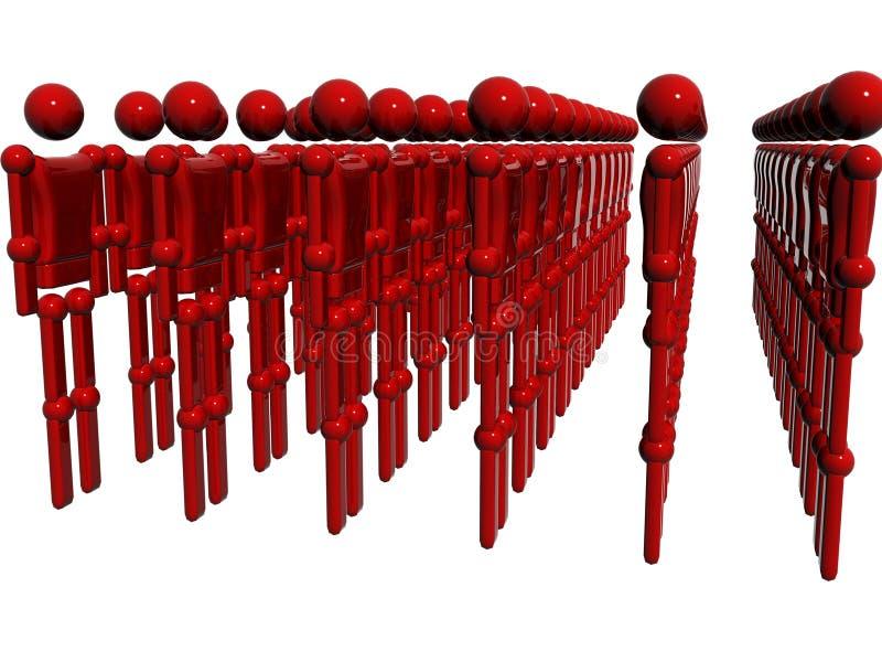 Technologie rote raytrace Karosserie lizenzfreie abbildung