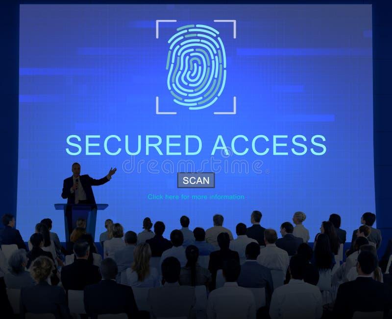 Technologie-Sicherheits-Fingerabdruck-Passwort-Konzept stockbild