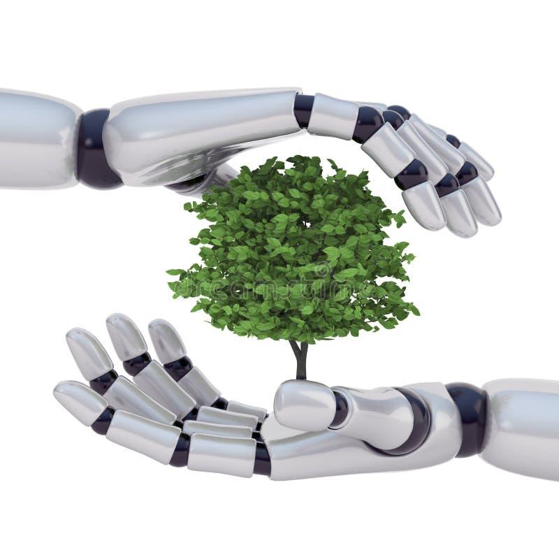 Technologie sichern Natur stock abbildung