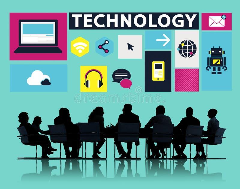 Technologie Sociaal Media Voorzien van een netwerk Online Digitaal Concept royalty-vrije stock afbeelding