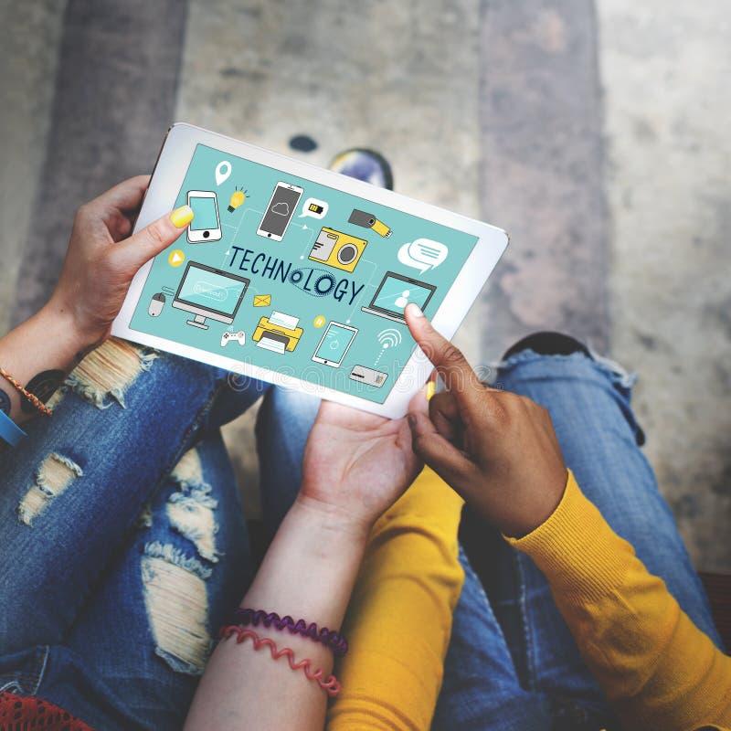 Technologie Sociaal Media Voorzien van een netwerk Online Digitaal Concept stock fotografie