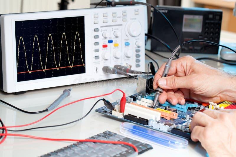 Technologie test elektronische apparatuur royalty-vrije stock foto's