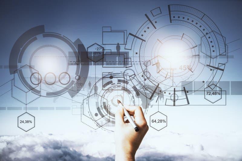 Technologie, toekomst en communicatie concept royalty-vrije stock afbeelding