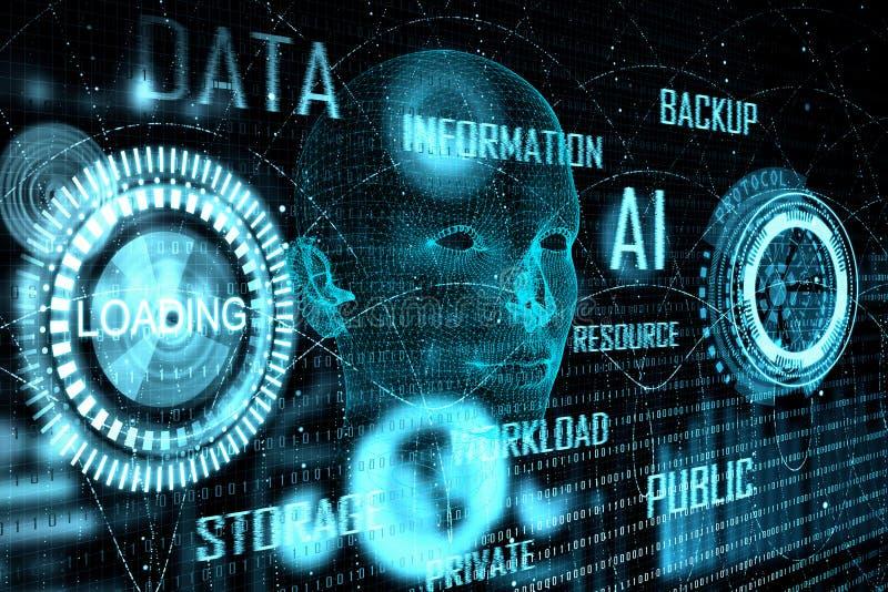 Technologie und biometrisches Konzept stock abbildung