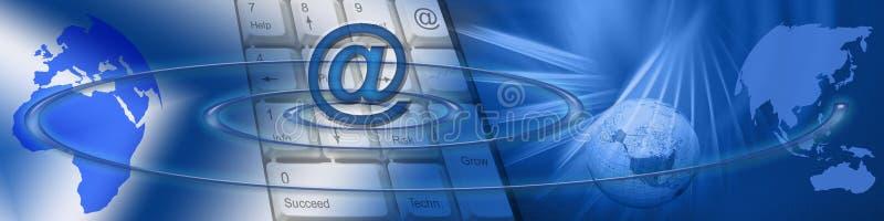 Technologie und weltweiter elektronischer Geschäftsverkehr lizenzfreie abbildung