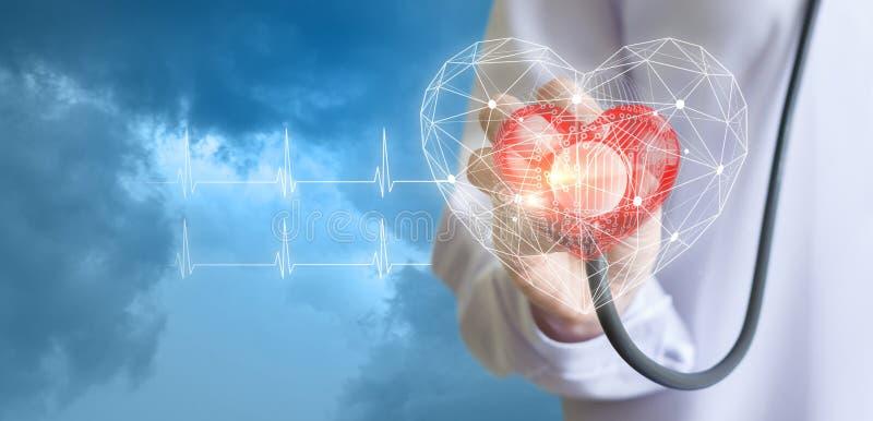 Technologie van diagnostiek van hart royalty-vrije stock afbeelding