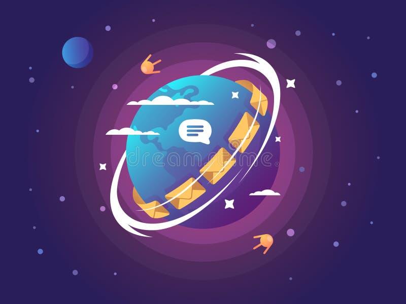 Technologie van globale verbinding en mededeling royalty-vrije illustratie