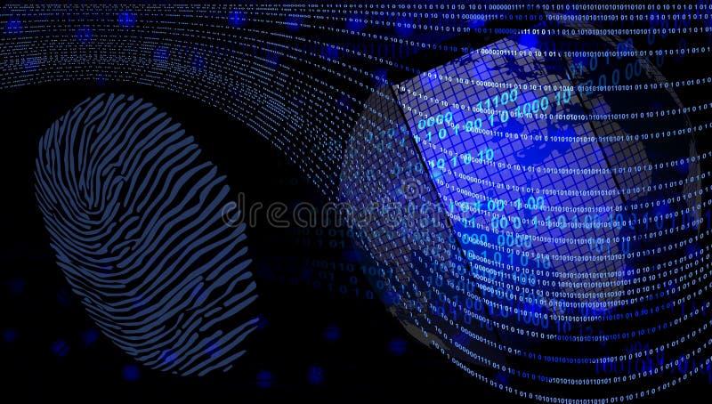 Technologie van het wereld de mobiele netwerk de mededeling van de beschermingstechnologie royalty-vrije illustratie