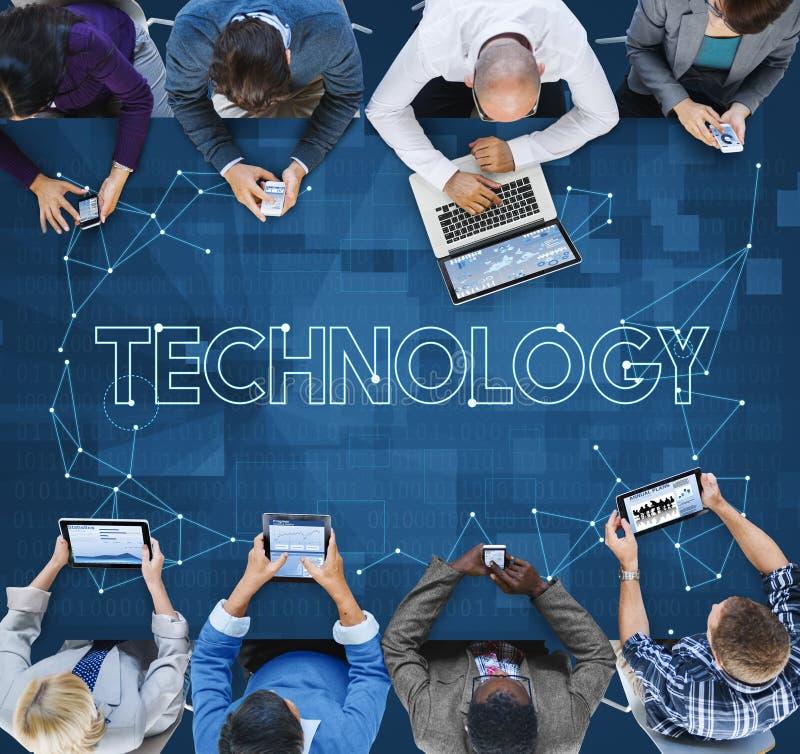 Technologie-Verbindungs-Kommunikations-Internet-Informations-Konzept stockfotografie