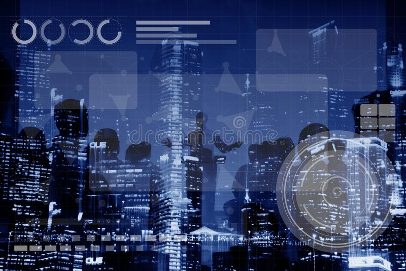 Technologie-Verbindungs-on-line-Vernetzungs-Medium-Konzept stockfoto