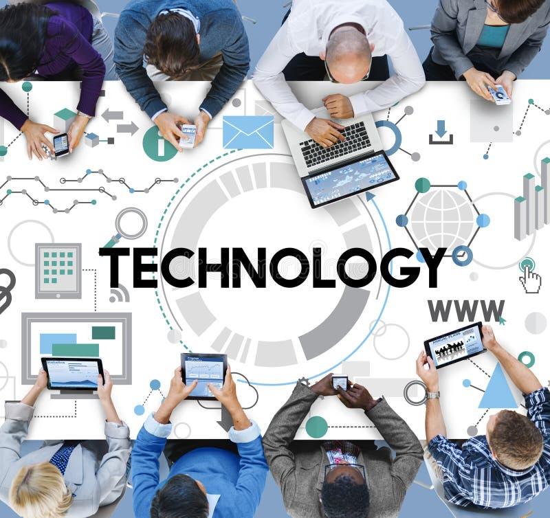 Technologie-Verbindungs-Vernetzungs-Digital-Konzept lizenzfreies stockfoto