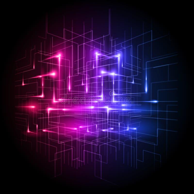 Technologie Verbonden Vector royalty-vrije illustratie