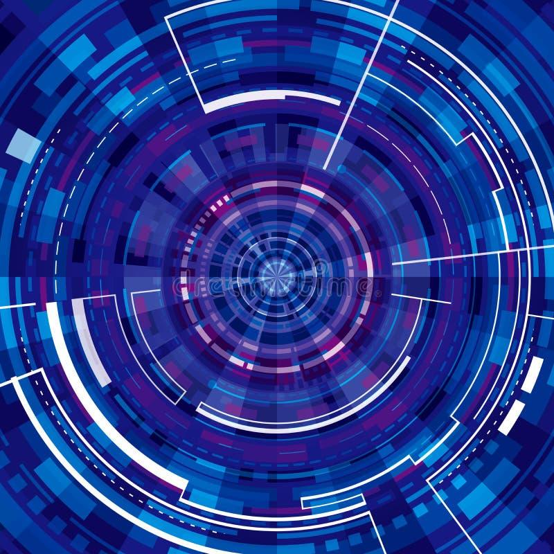 Technologie-virtueller Hintergrund lizenzfreie stockfotografie