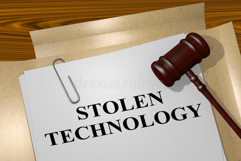 Technologie volée - concept juridique illustration libre de droits