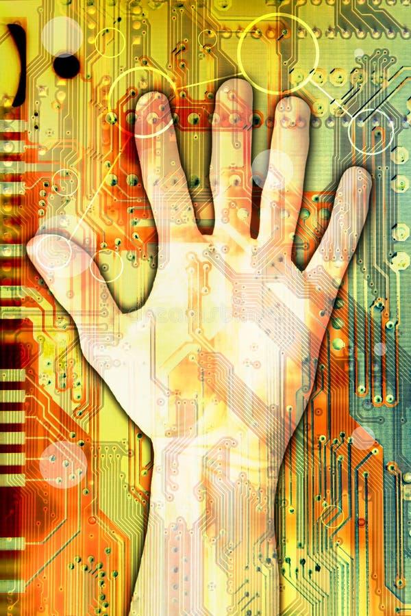 Technologie, welche die Welt erreicht lizenzfreies stockbild