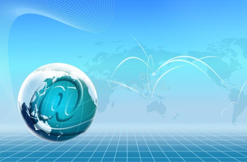 Technologie-Welt- und eMail-Ikone vektor abbildung