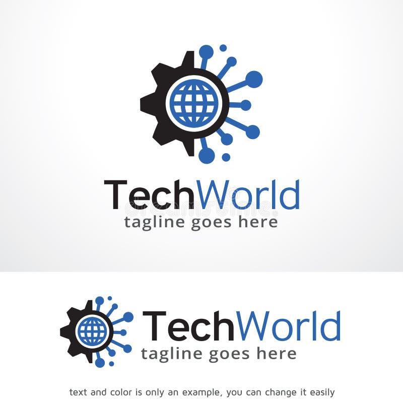 Technologie-Wereld Logo Template Design Vector, Embleem, Ontwerpconcept, Creatief Symbool, Pictogram vector illustratie