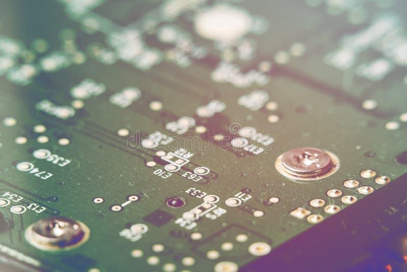 Technologie-wetenschapsachtergrond De raad van de kring De technologie van de elektronische computerhardware stock afbeelding