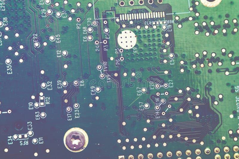 Technologie-wetenschapsachtergrond De raad van de kring De technologie van de elektronische computerhardware royalty-vrije stock afbeeldingen
