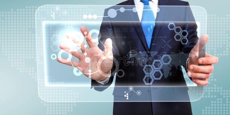 Technologie in zaken royalty-vrije illustratie
