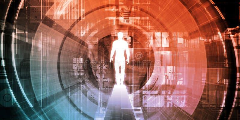 Technologie-Zugang lizenzfreie abbildung