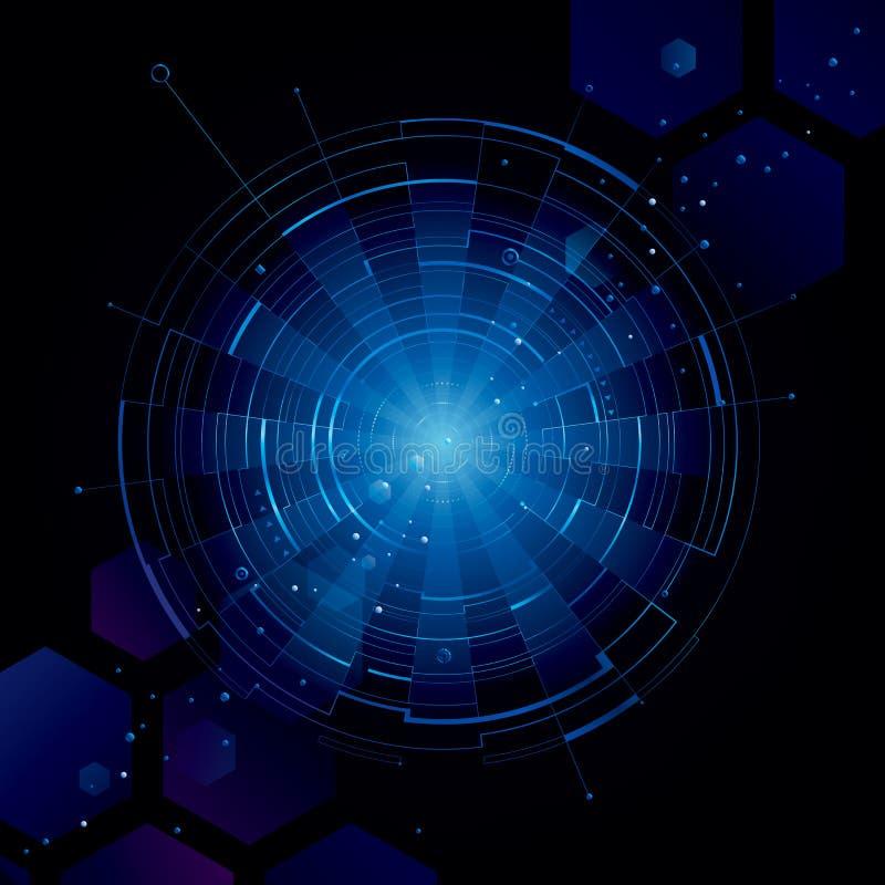 Technologieachtergrond vector illustratie