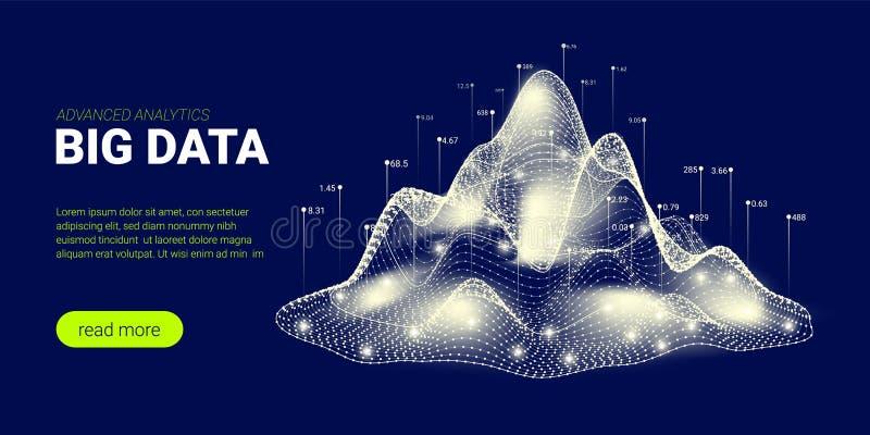 Technologieachtergrond, Big Data-Stroom royalty-vrije illustratie