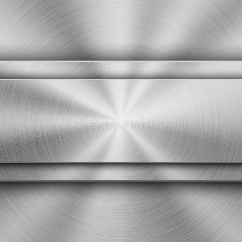 Technologieachtergrond met Metaal Cirkel Geborstelde Textuur stock illustratie