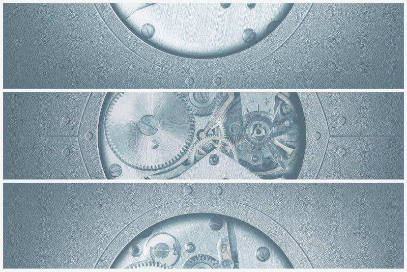 technologieachtergrond met metaaltoestellen en tandraderen royalty-vrije stock foto