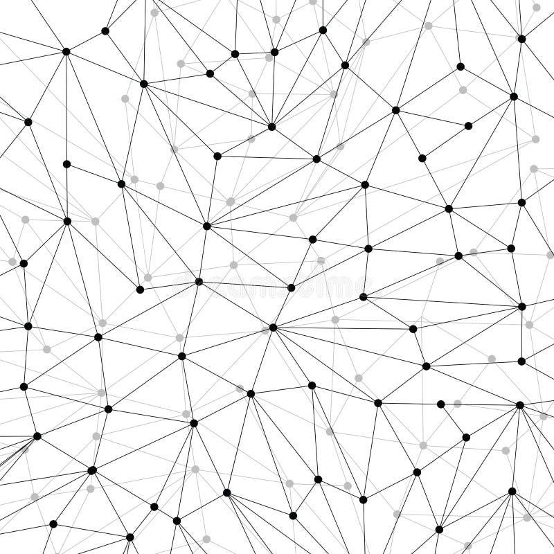 Technologieachtergrond voor website van zwarte punten van connecti stock illustratie