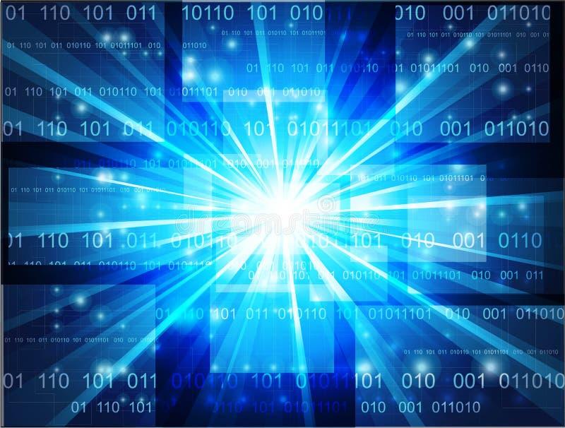 Technologieblauhintergrund vektor abbildung