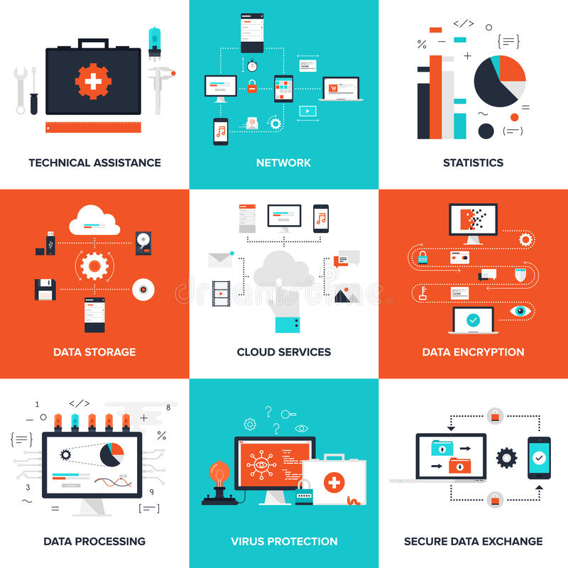 Technologieconcepten stock illustratie
