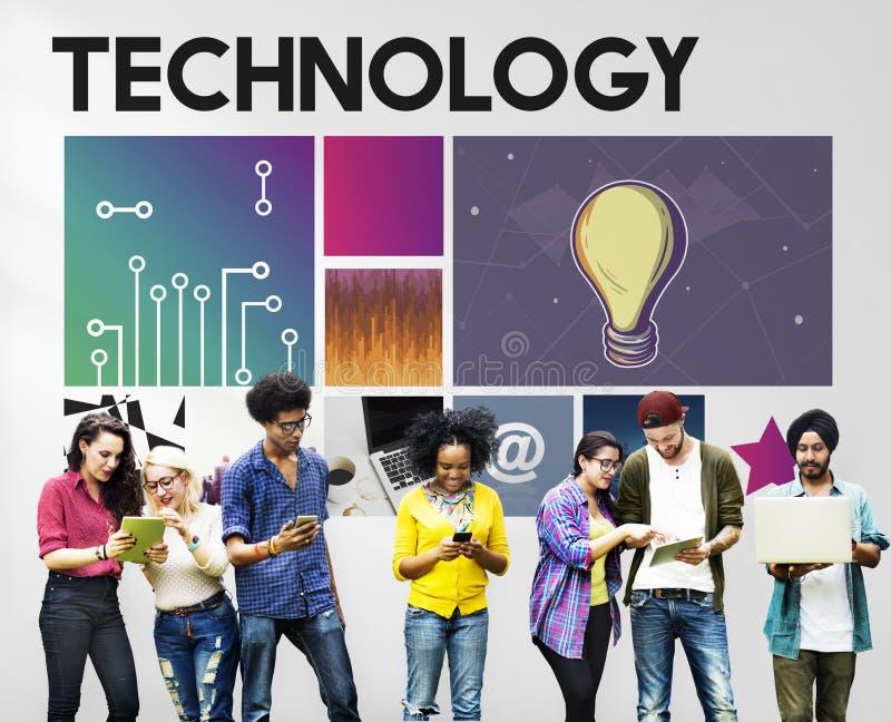 Technologiecyberspace Netwerkconcept stock afbeeldingen