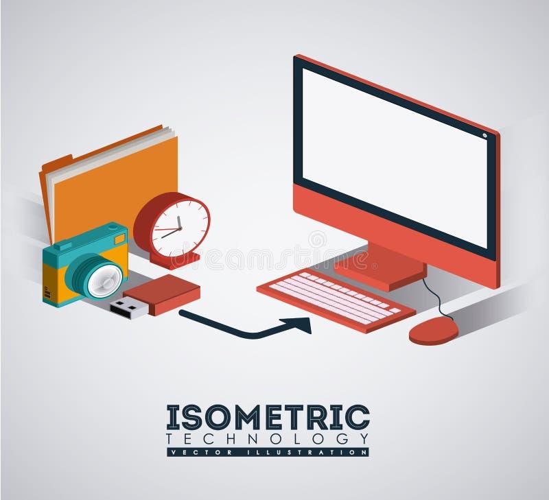Technologiedesign, Vektorillustration lizenzfreie abbildung