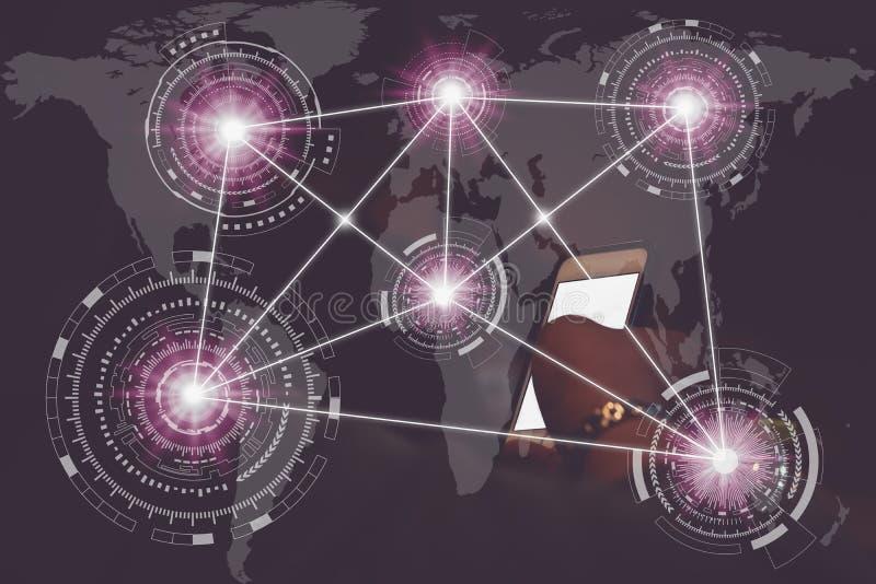 Technologieelementinternet-Kommunikation lizenzfreie stockfotos