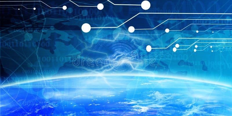 Technologiefahne lizenzfreie abbildung