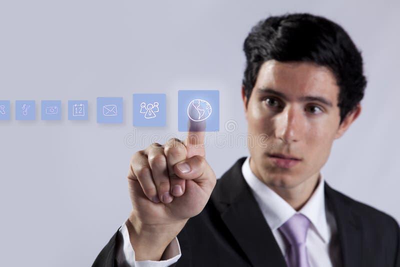 Technologiegeschäftsmannexperte stockfotografie