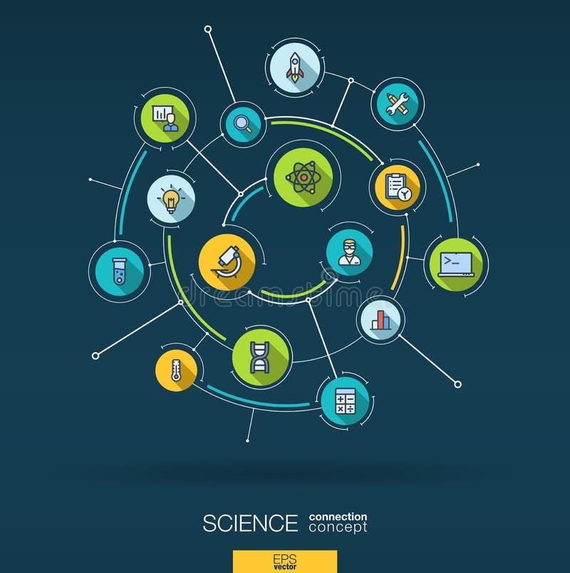 Technologiehintergrund der abstrakten Wissenschaft Digital schließen System mit integrierten Kreisen, flache dünne Linie Ikonen a lizenzfreie abbildung