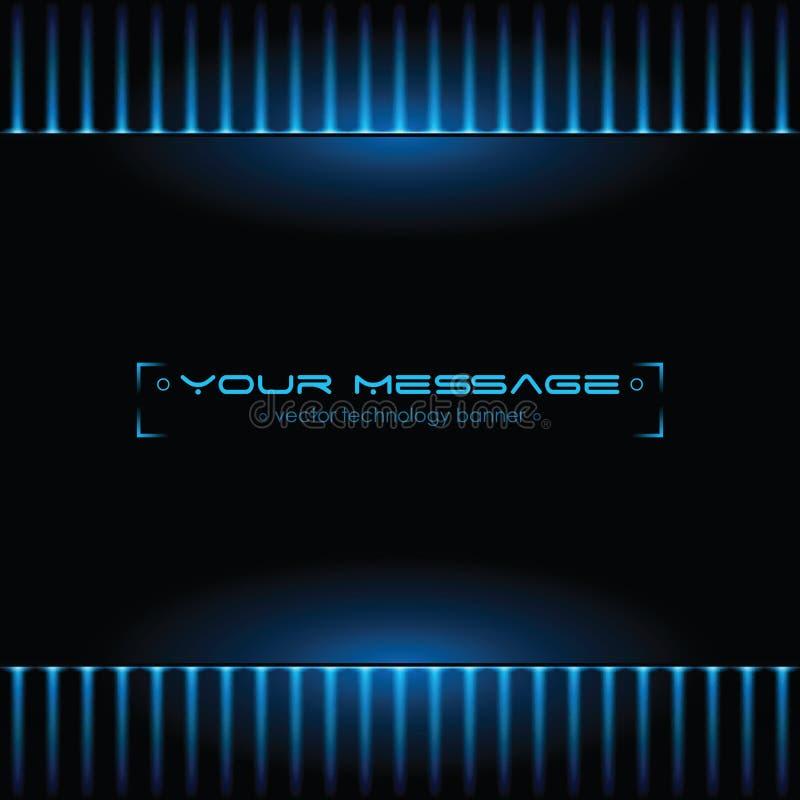 Technologiehintergrund mit Platz für Text vektor abbildung
