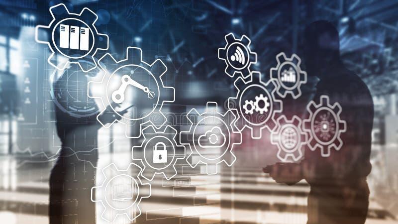 Technologieinnovation und Prozessautomatisierung Intelligente Industrie 4 stockbild