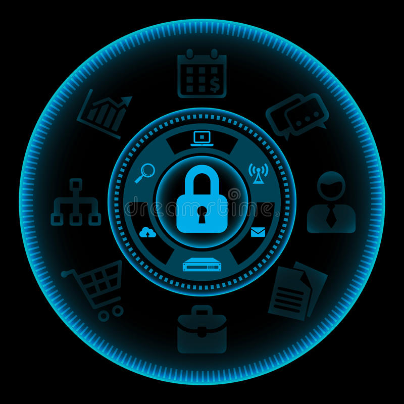 Technologiekonzept getrennt auf Weiß lizenzfreie abbildung