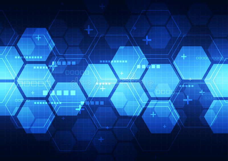 Technologiekonzept-Hintergrundillustration des abstrakten Vektors zukünftige vektor abbildung
