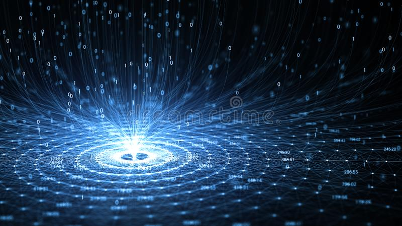 Technologiekunstmatige intelligentie AI en Internet van dingeniot concept stock illustratie