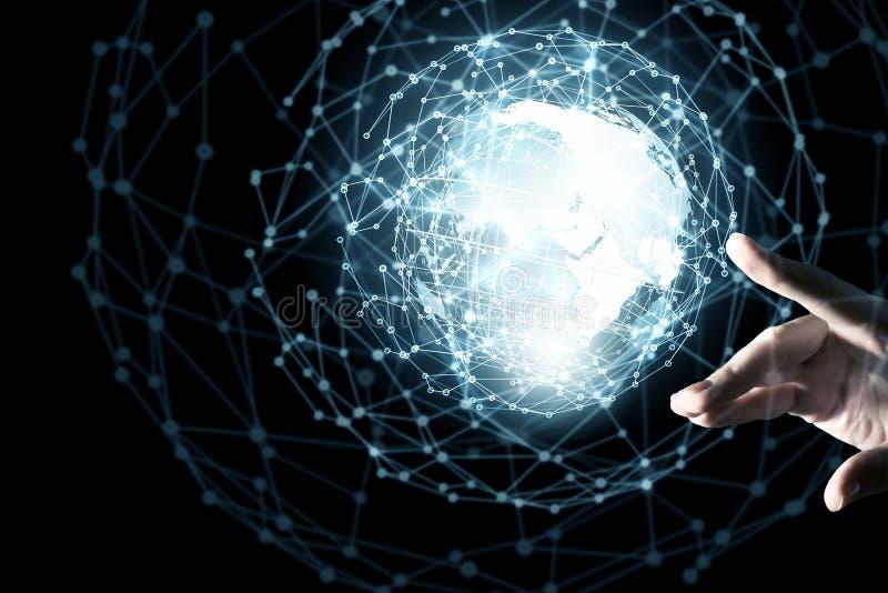 Technologien, welche die Welt anschließen lizenzfreie stockbilder