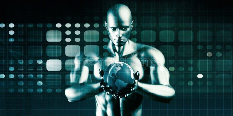 Technologieoplossingen stock illustratie