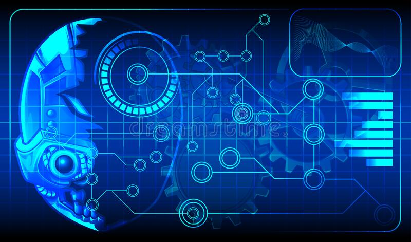 Technologieplandiagramm der künstlichen Intelligenz für androides lizenzfreie abbildung