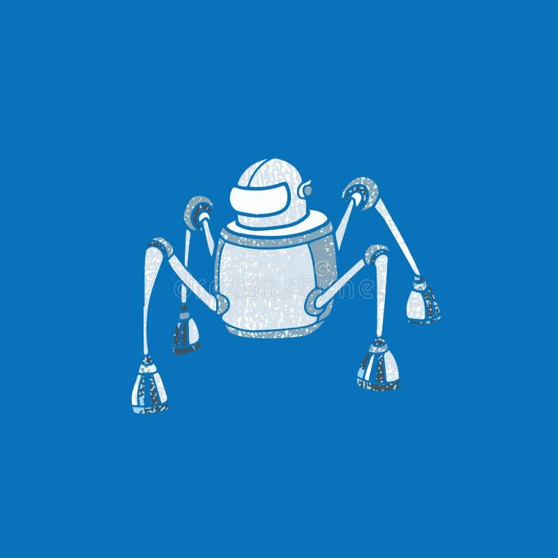 Technologieroboter-Spinnenstempel stock abbildung