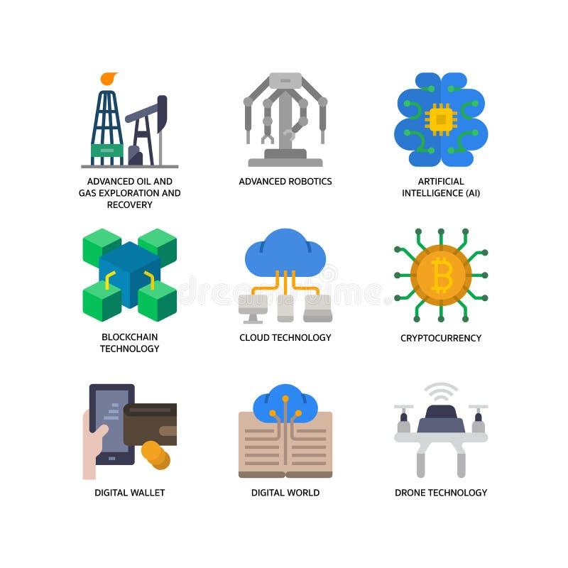 Free Technologies Disruption Icon Set Royalty Free Stock Photos - 156282128